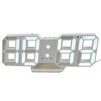 Настольные электронные часы CX-2218 WHITE  (Белая подсветка)