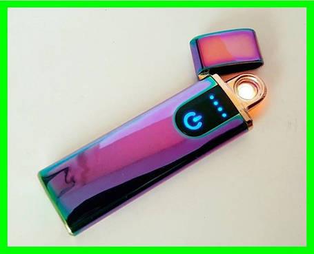 Електрична USB Запальничка з Сенсорним LED Дисплеєм, фото 2