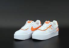 Женские кроссовки Nike Air Force white/pink. ТОП Реплика ААА класса., фото 3