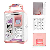 Детский сейф-копилка Robot Bodyguard Розовый