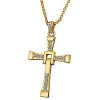 Хрест Домініка Торетто з ланцюжком ЗОЛОТО