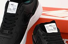 Женские кроссовки Nike Air Force. Рефлектив. Черные . ТОП Реплика ААА класса., фото 2