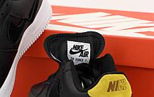 Женские кроссовки Nike Air Force. Рефлектив. Черные . ТОП Реплика ААА класса., фото 3