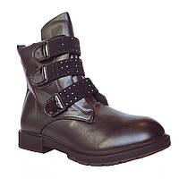 Демисезонные сапоги девочкам, 32, 33, 34, 35, 36, 37 Черные утепленные высокие теплые осенние ботинки.