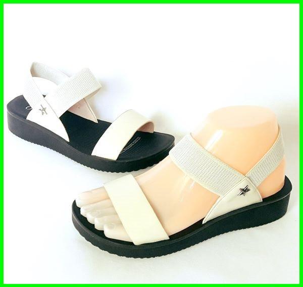 Женские Сандалии Босоножки Бежевые Летняя Обувь Резинка (размеры: 36,38,39)