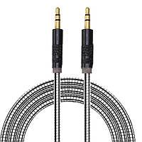 Кабель аудио AUX 3.5 jack 1м МЕТАЛЛ