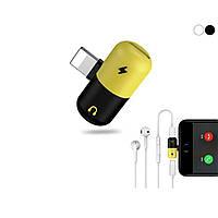 Переходник iPhone Xs/X/8/7 для зарядки и наушников 2в1