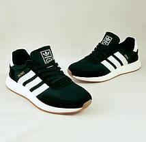Кроссовки Мужские Adidas Iniki Runner Boost Чёрные Адидас (размеры: 41,42,43,44,45,46)  Видео Обзор, фото 2