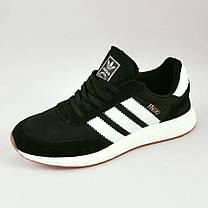 Кроссовки Мужские Adidas Iniki Runner Boost Чёрные Адидас (размеры: 41,42,43,44,45,46)  Видео Обзор, фото 3