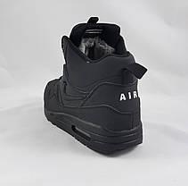 Кроссовки N!ke Air Мужские ЗИМА - МЕХ Чёрные Ботинки Найк (размеры: 41,42,43,44) Видео Обзор, фото 3