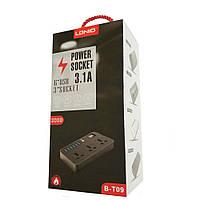 Сетевой фильтр-удлинитель LDNIO на 3 розетки+6 USB B-T09 K17