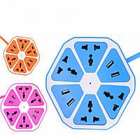 Сетевой фильтр-удлинитель на 4 розетки+4 USB K20