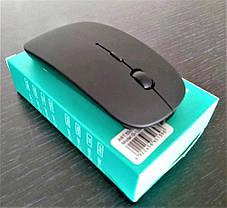 Беспроводная Мышка на АККУМУЛЯТОРЕ Дизайн APPLE Заряжается Тонкая Для Компьютеров и Ноутбуков, фото 3