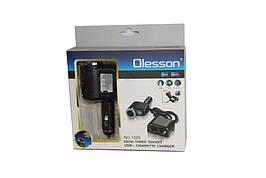 Тройник для прикуривателя Разветвитель Olesson NO.1526 с USB