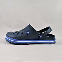 Мужские Тапочки CROCS Синие Кроксы Шлёпки (размеры: 41,42,43,44,45,46), фото 2