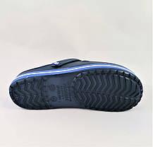 Мужские Тапочки CROCS Синие Кроксы Шлёпки (размеры: 41,42,43,44,45,46), фото 3