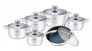 Набор кухонной посуды Solerno 12 пр Bollire BR-4006