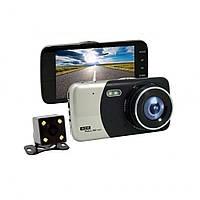 Автомобильный видеорегистратор DVR CT-503 с 4  HD экраном  на 2 камеры