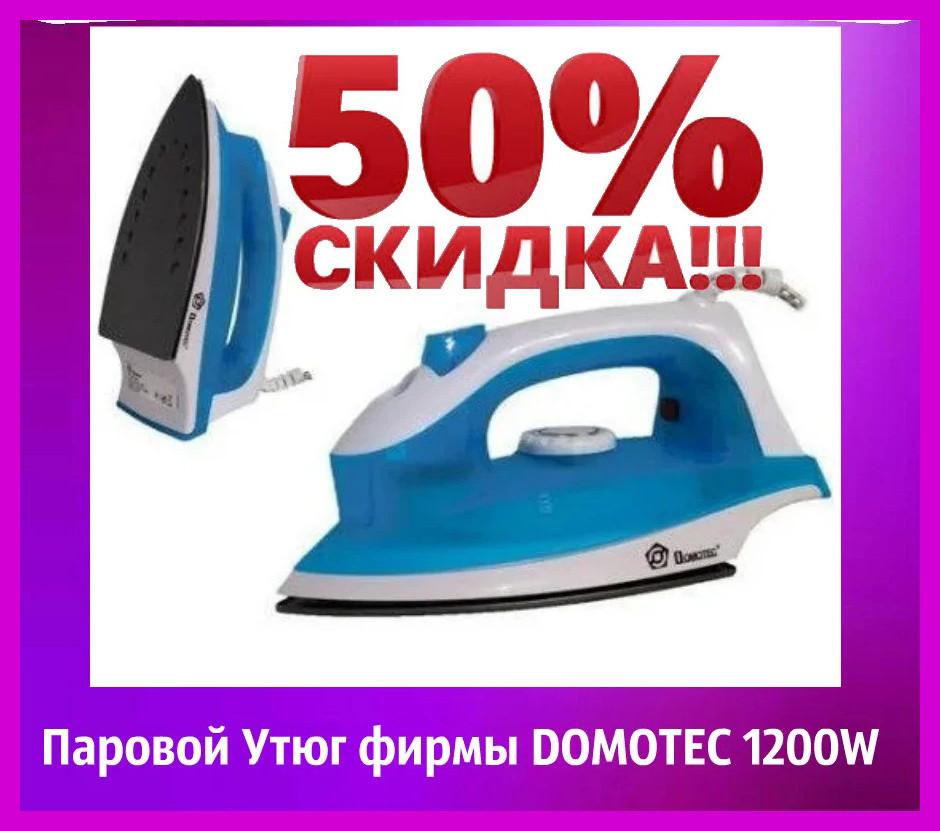 Паровой Утюг фирмы DOMOTEC 1200W (тефлон 2289) Утюг паровой электрический.