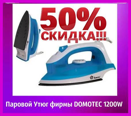 Паровой Утюг фирмы DOMOTEC 1200W (тефлон 2289) Утюг паровой электрический., фото 2