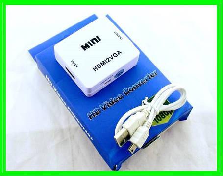 Конвертер Преобразователь с HDMI в VGA - 4272, фото 2