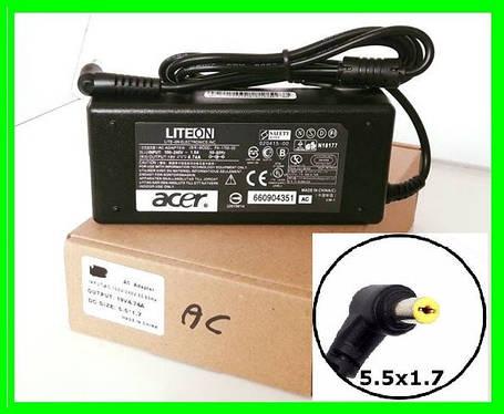 Блок Питания ACER 19v 4.74a 90W штекер 5.5 на 1.7 (ОРИГИНАЛ) Зарядка для Ноутбука, фото 2