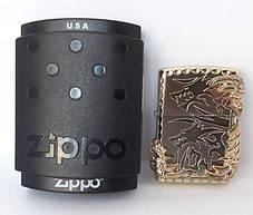 Зажигалка ZIPPO Бензиновая (Когти Дракона - Silver), фото 3