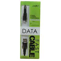 Кабель J18 USB -  microUSB с металлической обмоткой