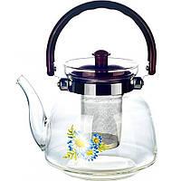 Стеклянный Заварник UNIQUE/ FlorA UN-1182 0.80 газ