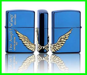 Зажигалка ZIPPO Бензиновая (Angel Wings - Blue)
