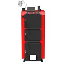 Котел длительного горения Kraft S 12 кВт верхнего и нижнего горения с автоматическим управлением