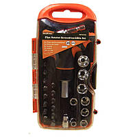 Высококачественный набор инструментов отвертка с трещеткой с головками и битами Gear Power HZF -8187A  25шт.