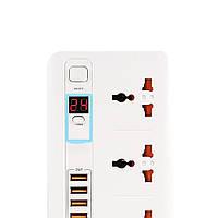 Удлинитель TIMER SMART PLUG - 3 SOCKET / 5 USB Белый модель  BKL-04
