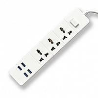 Удлинитель 3 SOCKET / 4 USB модель  BKL-03