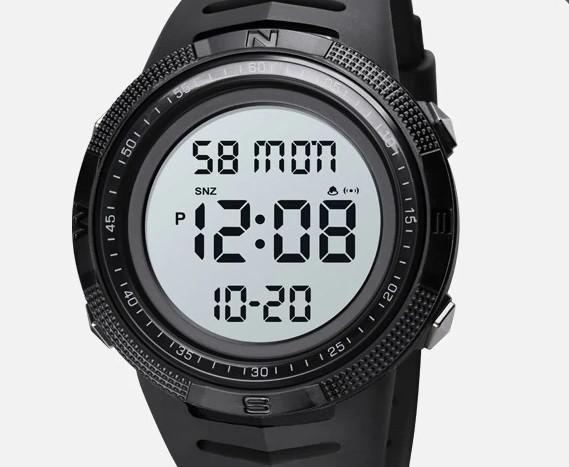 Skmei 1632 чорні з білим чоловічі спортивні годинник