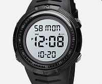 Skmei 1632 чорні з білим чоловічі спортивні годинник, фото 1