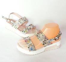 Женские Сандалии Босоножки Летняя Обувь на Танкетке Платформа (размеры: 37,38,39), фото 2