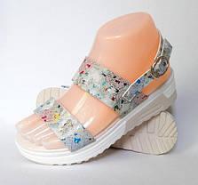 Женские Сандалии Босоножки Летняя Обувь на Танкетке Платформа (размеры: 37,38,39), фото 3