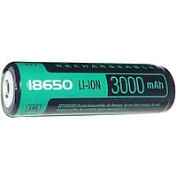 Аккумулятор VidexLi-ion 18650-R, 3000 mAh, c защитой блистер 1 шт