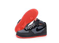 Мужские кроссовки Nike Air Force Черные, фото 2