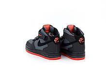 Мужские кроссовки Nike Air Force Черные, фото 3