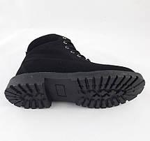 Ботинки Timberland ЗИМА-МЕХ Мужские Тимберленды Чёрные (размеры: 45) Видео Обзор, фото 3