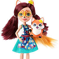 Кукла Enchantimals Энчантималс Художественная студия Лисички Фелисити со зверюшкой GBX03, фото 2