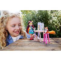 Кукла Enchantimals Энчантималс Художественная студия Лисички Фелисити со зверюшкой GBX03, фото 8