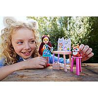 Кукла Enchantimals Энчантималс Художественная студия Лисички Фелисити со зверюшкой GBX03, фото 9