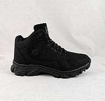 Ботинки ЗИМНИЕ Мужские Чёрные Кроссовки МЕХ (размеры: 43,44,45,46) Видео Обзор, фото 3