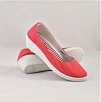 Женские Мокасины Коралловые Балетки Туфли на Танкетке (размеры: 37,38,39), фото 2