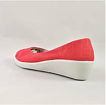 Женские Мокасины Коралловые Балетки Туфли на Танкетке (размеры: 37,38,39), фото 3