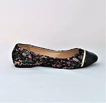 Женские Балетки Чёрные Мокасины Туфли (размеры: 36,37,38,39,40), фото 2
