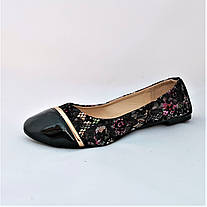 Женские Балетки Чёрные Мокасины Туфли (размеры: 36,37,38,39,40), фото 3